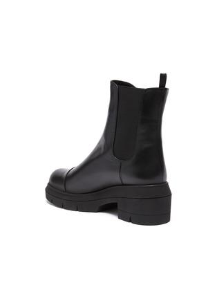 - STUART WEITZMAN - Norah' Chunky Heel Leather Chelsea Boots