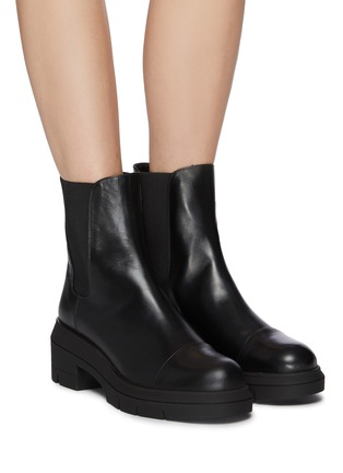 Figure View - Click To Enlarge - STUART WEITZMAN - Norah' Chunky Heel Leather Chelsea Boots