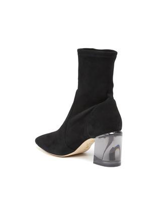 - STUART WEITZMAN - Loulou' Translucent Block Heel Suede Ankle Boots