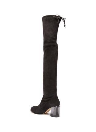 - STUART WEITZMAN - Loulou' Translucent Block Heel Suede Thigh-high Boots
