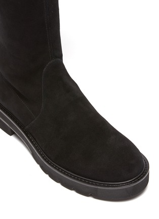 Detail View - Click To Enlarge - STUART WEITZMAN - Lowland Lift' Thigh-high Flatform Suede Boots