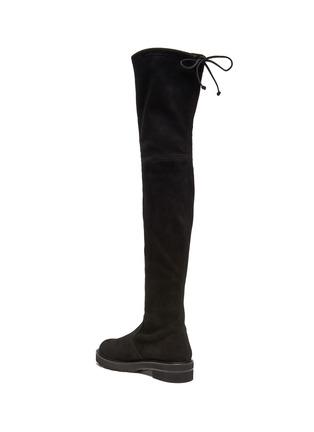 - STUART WEITZMAN - Lowland Lift' Thigh-high Flatform Suede Boots