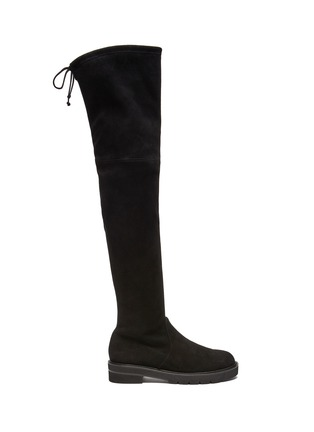 Main View - Click To Enlarge - STUART WEITZMAN - Lowland Lift' Thigh-high Flatform Suede Boots