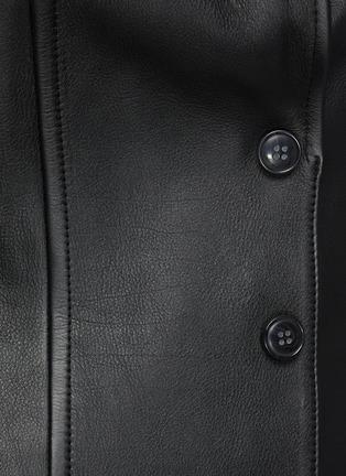 - ALEXANDERWANG - Sculpted Elongated Calf Leather Blazer