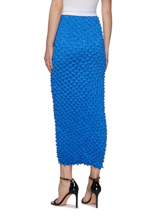 Back View - Click To Enlarge - ALEXANDERWANG - Shibori Satin Midi Skirt