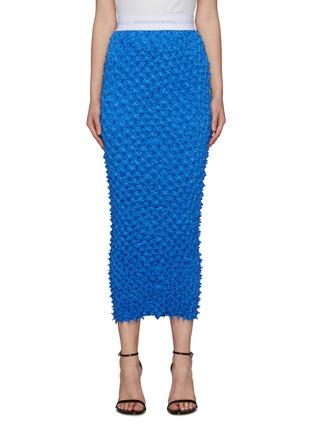 Main View - Click To Enlarge - ALEXANDERWANG - Shibori Satin Midi Skirt