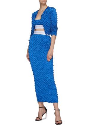 Figure View - Click To Enlarge - ALEXANDERWANG - Shibori Satin Midi Skirt