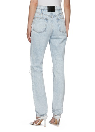Back View - Click To Enlarge - ALEXANDERWANG - Stack Corset Boning Jeans