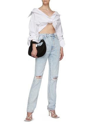 Figure View - Click To Enlarge - ALEXANDERWANG - Stack Corset Boning Jeans