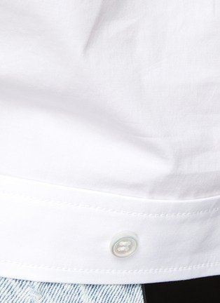 - ALEXANDERWANG - Cropped Twist Front Shirt