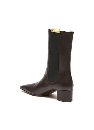- NANUSHKA - 'Vika' Square Toe Heeled Vegan Leather Ankle Boots
