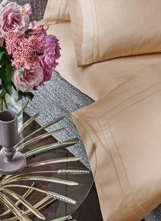 Detail View - Click To Enlarge - FRETTE - Doppio Ajour King Size Duvet Set – Powder Pink