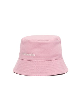 Main View - Click To Enlarge - HOLZWEILER - 'Pafe' Logo Embroidered Cotton Bucket Hat