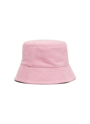 Figure View - Click To Enlarge - HOLZWEILER - 'Pafe' Logo Embroidered Cotton Bucket Hat