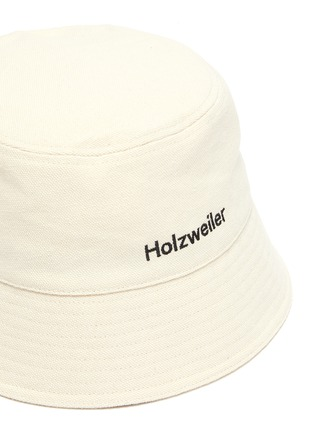 Detail View - Click To Enlarge - HOLZWEILER - 'Pafe' Logo Embroidered Cotton Bucket Hat