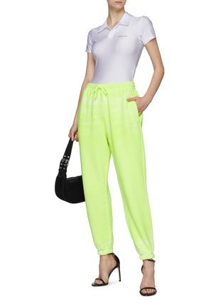 Figure View - Click To Enlarge - ALEXANDERWANG - Garment Dye Terry Cotton Drawstring Sweatpants