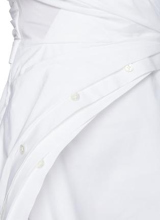 - ALEXANDERWANG - Wrap Front Off Shoulder Shirt Dress