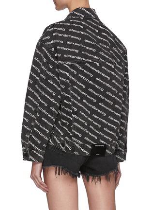Back View - Click To Enlarge - ALEXANDERWANG - Falling Back Denim Jacket