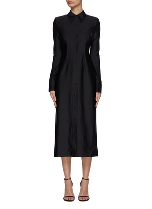 Main View - Click To Enlarge - ALEXANDERWANG - Collared Shirt Dress
