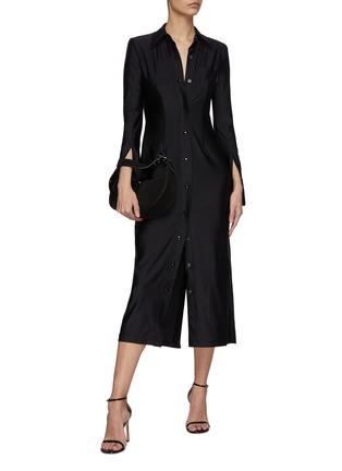 Figure View - Click To Enlarge - ALEXANDERWANG - Collared Shirt Dress