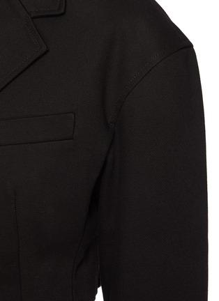 - ALEXANDERWANG.T - Black Denim Drop Shoulder Cropped Blazer