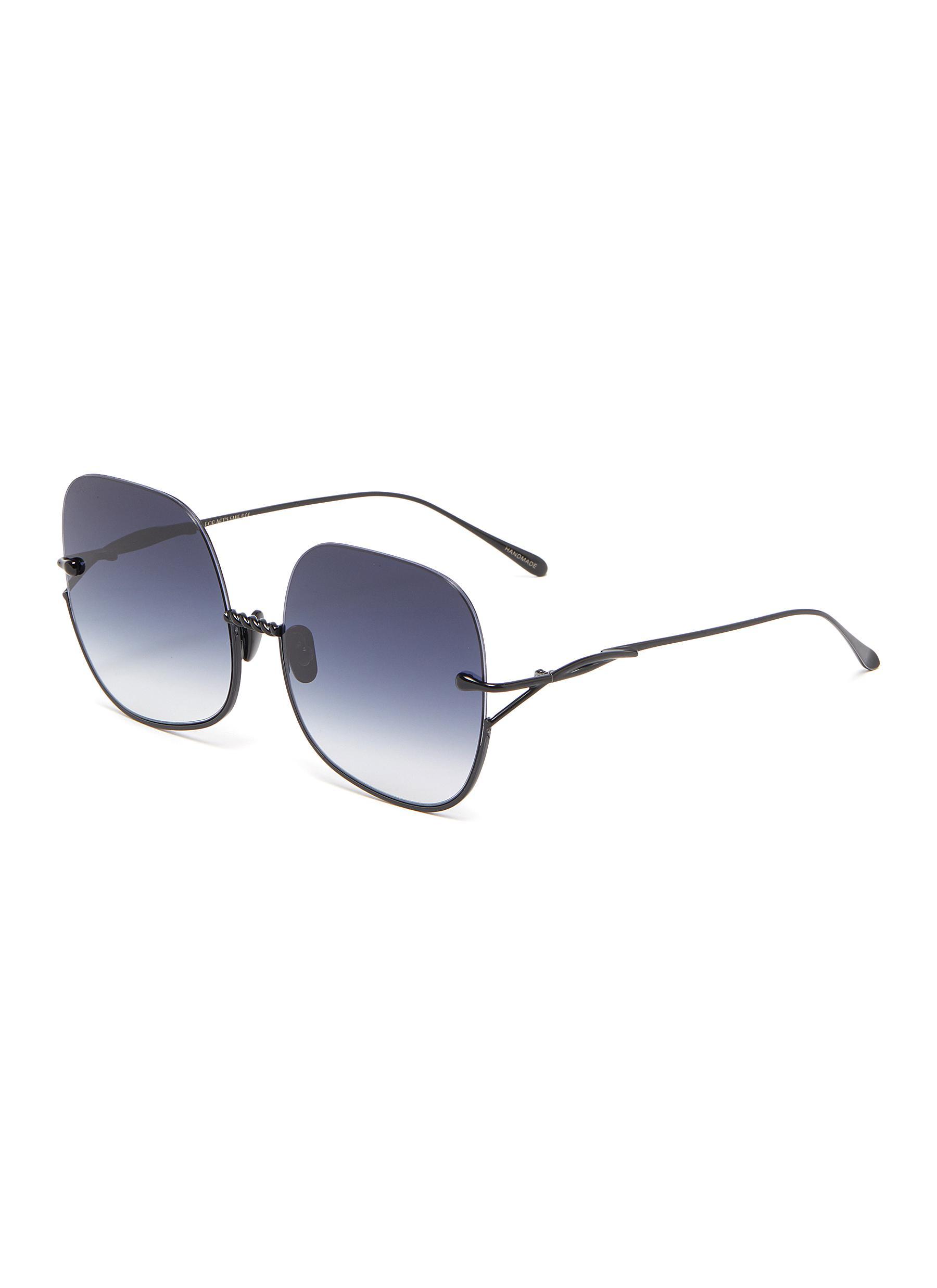 Duchess' Half Square Frame Oversized Sunglasses