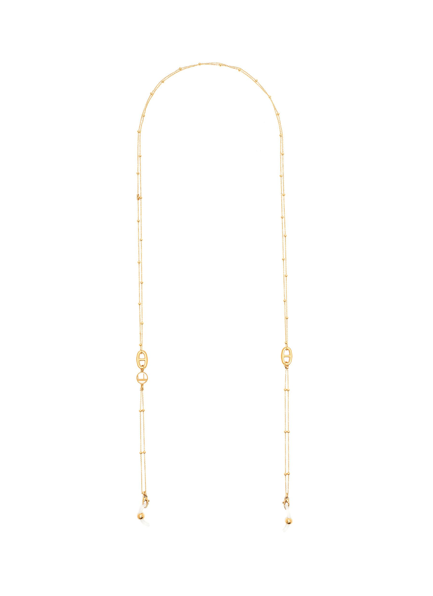 Beetle' Dotted Double Link 18k Gold Plated Eyewear Chain
