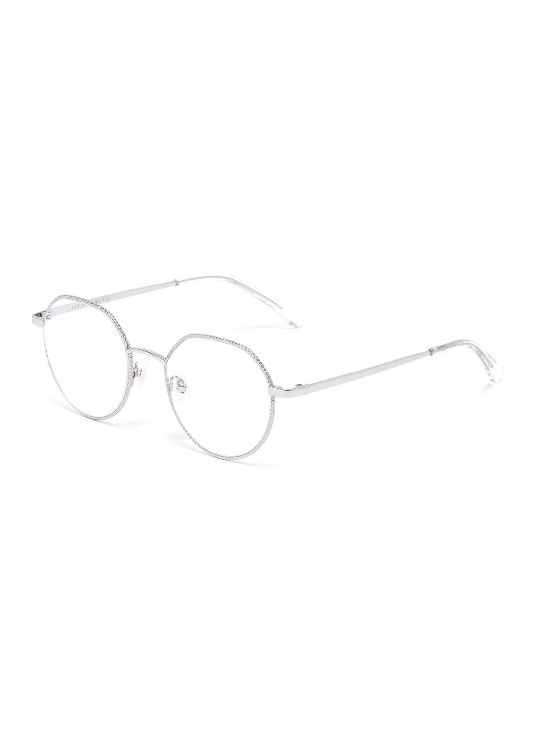 Hope' Diamond-cut Rim Palladium Plated Optical Glasses
