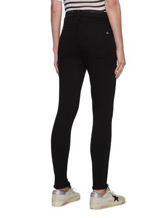 Back View - Click To Enlarge - RAG & BONE/JEAN - 'Core Nina' raw hem skinny jeans