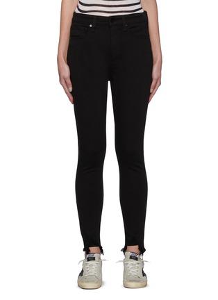 Main View - Click To Enlarge - RAG & BONE/JEAN - 'Core Nina' raw hem skinny jeans