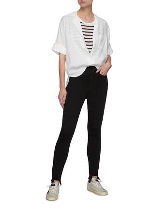 Figure View - Click To Enlarge - RAG & BONE/JEAN - 'Core Nina' raw hem skinny jeans