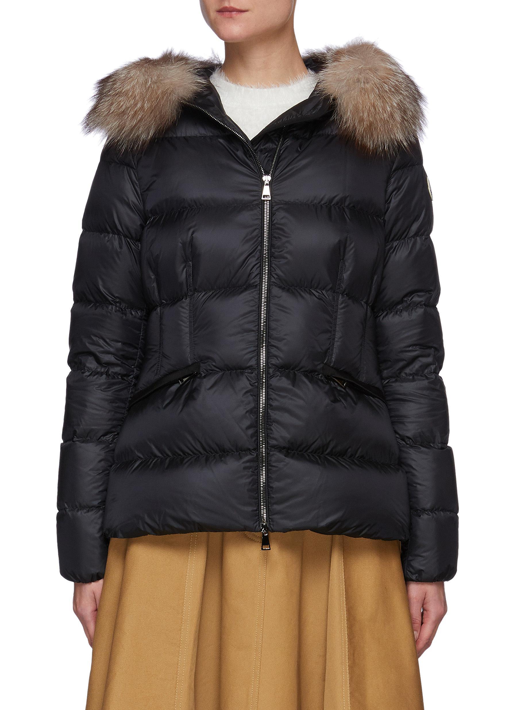 'Boed' Fur Trim Hood Puffer Jacket