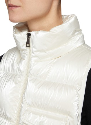 Detail View - Click To Enlarge - MONCLER - Diotis' Logo Patch Hooded Down Gilet