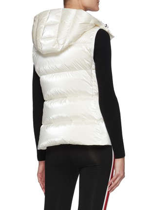 Back View - Click To Enlarge - MONCLER - Diotis' Logo Patch Hooded Down Gilet