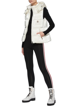 Figure View - Click To Enlarge - MONCLER - Diotis' Logo Patch Hooded Down Gilet