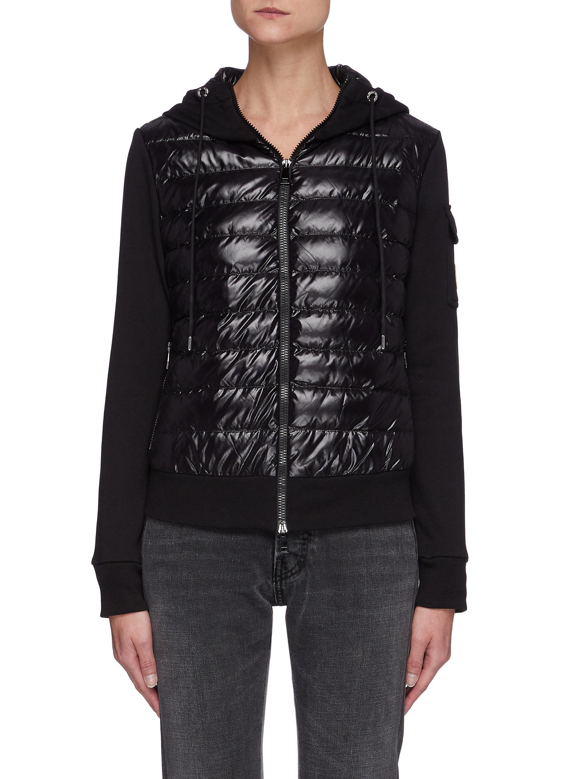 Puffer Body Hooded Zip Up Jacket