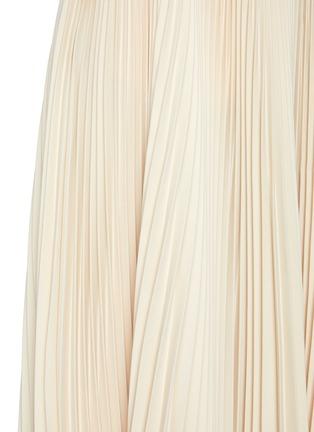 - JIL SANDER - Asymmetric Sunray Pleated Midi Skirt