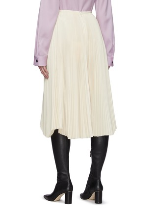 Back View - Click To Enlarge - JIL SANDER - Asymmetric Sunray Pleated Midi Skirt