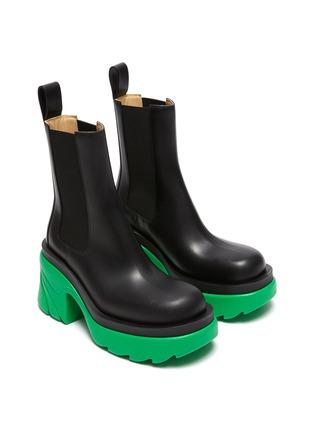 Figure View - Click To Enlarge - BOTTEGA VENETA - Chelsea Chunky Sole Ankle Boots