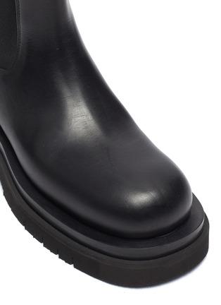 Detail View - Click To Enlarge - BOTTEGA VENETA - Platform Lug Sole Leather Chelsea Boots