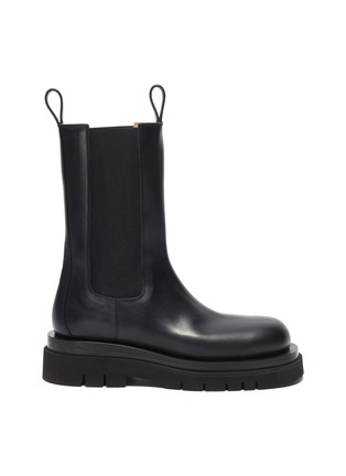 Main View - Click To Enlarge - BOTTEGA VENETA - Platform Lug Sole Leather Chelsea Boots