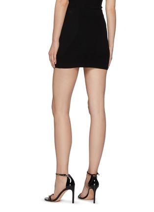 Back View - Click To Enlarge - GAUGE81 - Fasnia' Slit Appliqued Bodycon Mini Skirt
