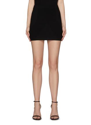 Main View - Click To Enlarge - GAUGE81 - Fasnia' Slit Appliqued Bodycon Mini Skirt
