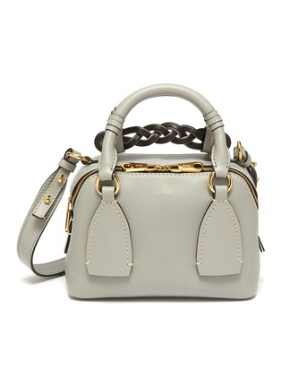 Main View - Click To Enlarge - CHLOÉ - 'Daria' braided handle grain leather small shoulder bag