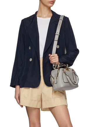 Figure View - Click To Enlarge - CHLOÉ - 'Daria' braided handle grain leather small shoulder bag