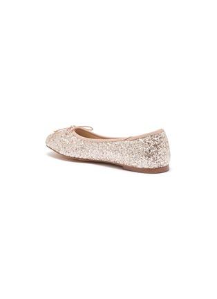 Detail View - Click To Enlarge - SAM EDELMAN - Felicia' Mini Glitter Bow Ballerina Flats