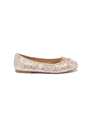 Main View - Click To Enlarge - SAM EDELMAN - Felicia' Mini Glitter Bow Ballerina Flats