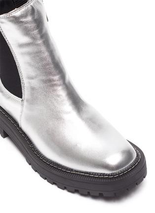 Detail View - Click To Enlarge - SAM EDELMAN - Laguna' Mini Metallic Chelsea Boots