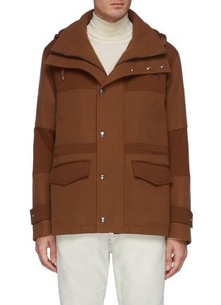 Main View - Click To Enlarge - HERNO - Detachable Hood Herno-Tech Jacket