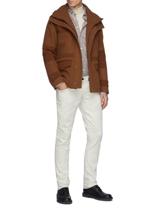 Figure View - Click To Enlarge - HERNO - Detachable Hood Herno-Tech Jacket